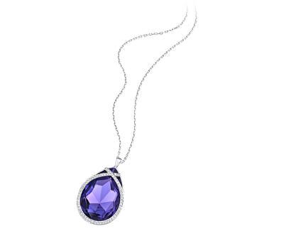 Úchvatný třpytivý náhrdelník s fialovým krystalem 5111962 - SLEVA