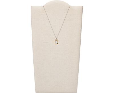 Elegantní ocelový náhrdelník s perletí a krystaly Agnethe SKJ1430998