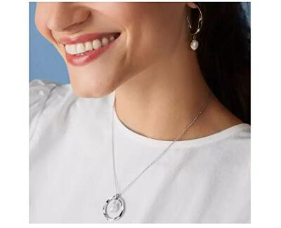 Luxusní ocelové náušnice s pravými perlami Agnethe SKJ1396040