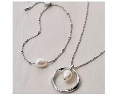 Luxusní ocelový náramek s perlou Agnethe SKJ1426998