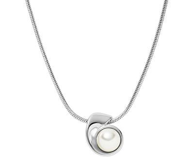 Půvabný ocelový náhrdelník s perlou Agnethe SKJ1366040