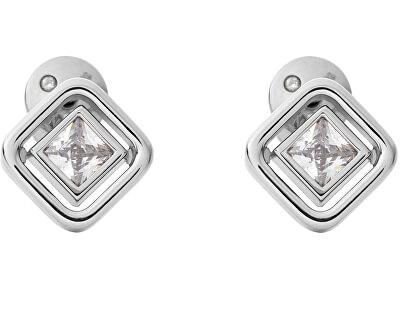 Jemné ocelové náušnice s čirým krystalem Elin SKJ1431040