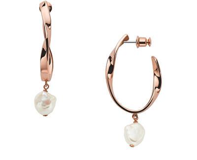 Luxusní bronzové náušnice s pravými perlami Agnethe SKJ1397791