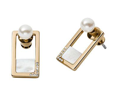 Luxusní náušnice s perlami a krystaly 2v1 Agnethe SKJ1426998