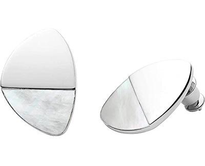 Ocelové náušnice s perletí SKJ1297040