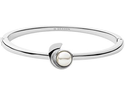 Pevný ocelový náramek s perlou Agnethe SKJ1368040