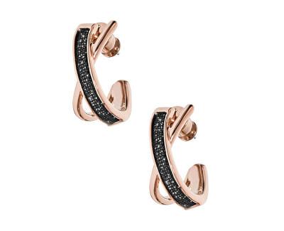 Cercei din oțel placat cu aur roz  SKJ1275998