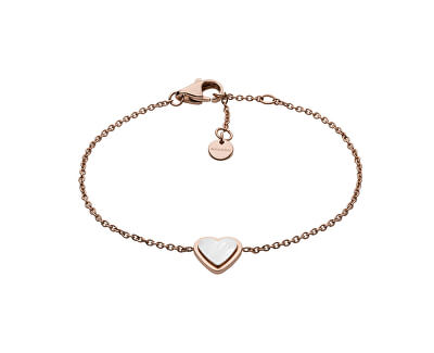 Brățară din oțel placat cu aur roz inima SkJ1255791