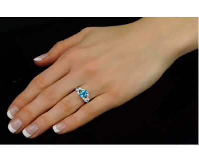 Stříbrný decentní prsten s topazem Gio Caratti JJJBR24