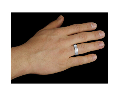 Snubní prsten pro muže a ženy z chirurgické oceli RRC0465