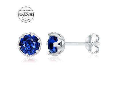 Silber Ohrringe mit echtem blauem Topas JJJ1033BSW