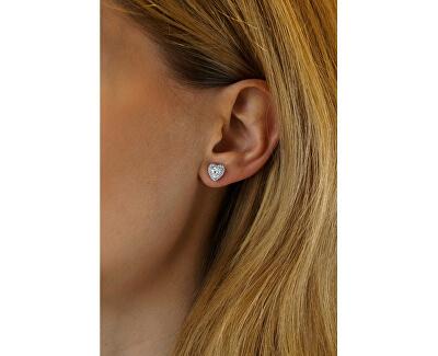 Silber Ohrringe Herz mit Swarovski®Zirconia MWE02140