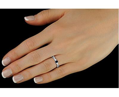 Stříbrný prsten s pravým přírodním safírem JJJR1100SAP