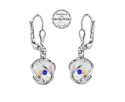 Třpytivé visací náušnice se Swarovski® Crystals SILVEGOB31644