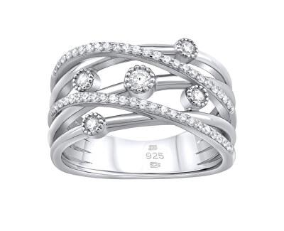 Luxusní stříbrný prsten Adhara se zirkony MWR02936