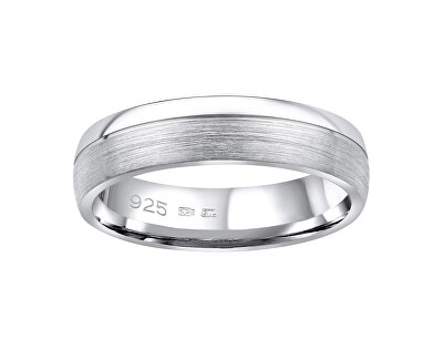 Snubní stříbrný prsten Paradise pro muže i ženy QRGN23M