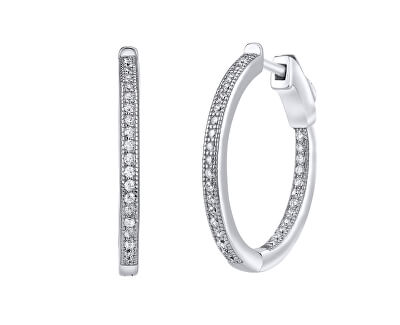 Stříbrné kruhové náušnice s unikátním zapínáním Milla JJJE0106