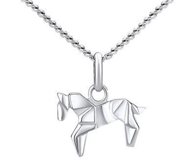 Stříbrný náhrdelník Kůň ZTJ73512VSW (Řetízek, přívěsek)