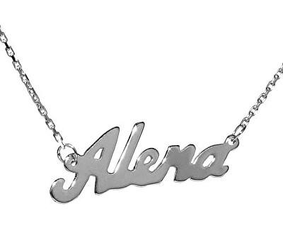 Stříbrný náhrdelník se jménem Alena