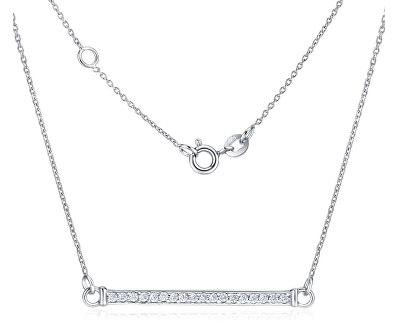 Strieborný náhrdelník so zirkónmi VARSAMIA ZTJNF61006
