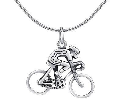 Pandantiv din argint în formă de Biciclist PRMP14191