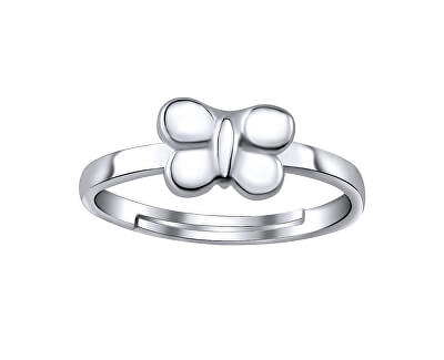 Stříbrný prsten na nohu s motýlem ZTD25255
