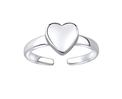 Inel de argint cu inima pentru picior JJJTR1597
