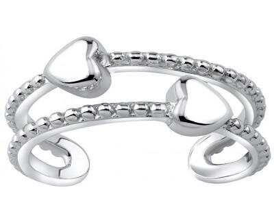 Ezüst talpgyűrű szívvel JJJTR0009