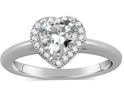 Inel din argintcu cristal șimicrozirconiu JJJR0103