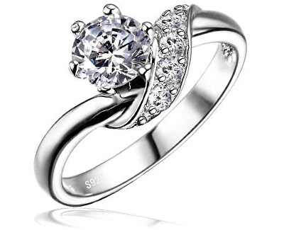 Stříbrný zásnubní prsten SHZR234