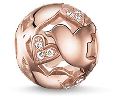 Bronzový zamilovaný korálku K0132-416-14