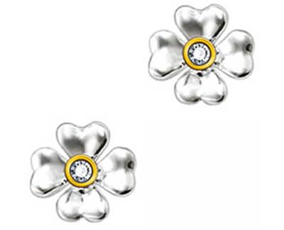 Stříbrné náušnice Něžné květy SD_H0001-179-14