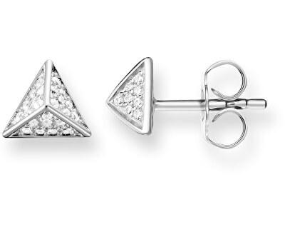 Strieborné náušnice pyramídky H1867-051-14
