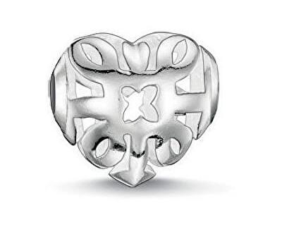 Strieborný korálik Filigránové srdce K0133-001-12