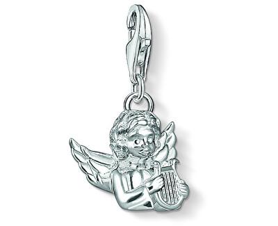 Strieborný prívesok Anjelik s harfou 1381-001-12