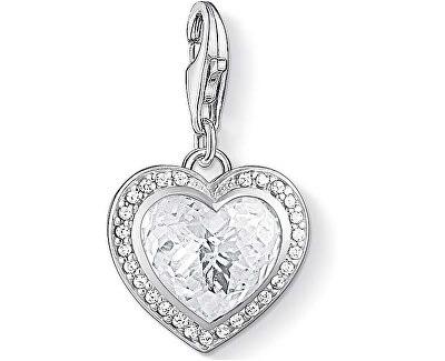 Strieborný prívesok Trblietavé srdce 1362-051-14