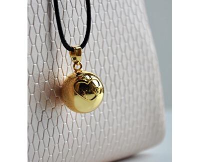 Pozlátený náhrdelník Rolnička srdiečka BZ20