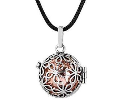 Dámsky náhrdelník Rolnička Malé kytičky - medená K2SM18