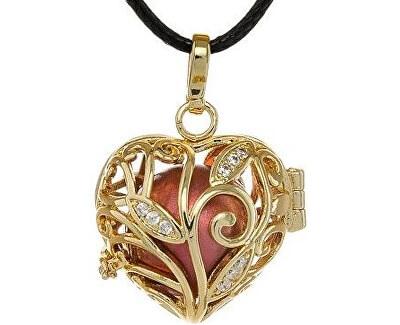 Pozlátený náhrdelník Rolnička Srdiečko K13ZC18