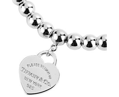 Luxusní stříbrný náramek se srdíčkovým přívěskem 26545285 + originální balení