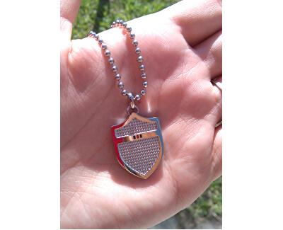 Edelstahl Halskette mit Schild TH2700824