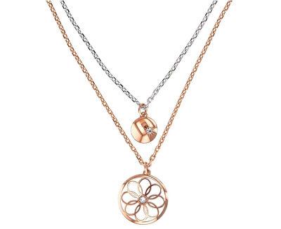Bicolor oceľový náhrdelník TH2780069