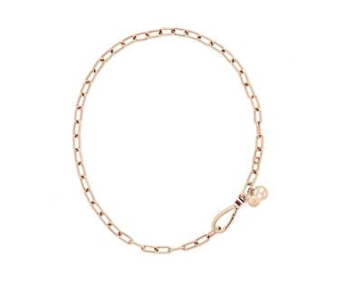 Elegantní pozlacený ocelový náhrdelník TH2780333