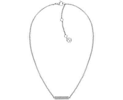 Moderní ocelový náhrdelník s krystaly TH2780192
