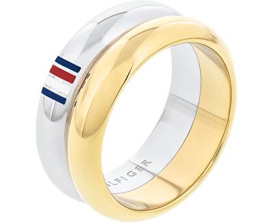 Oceľový bicolor prsteň TH2701096