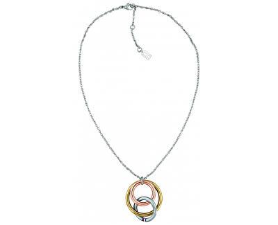 Oceľový náhrdelník s tricolor príveskom TH2701077