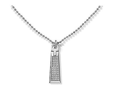 Colier din oțel cu un pandantiv cu cristale TH2700718