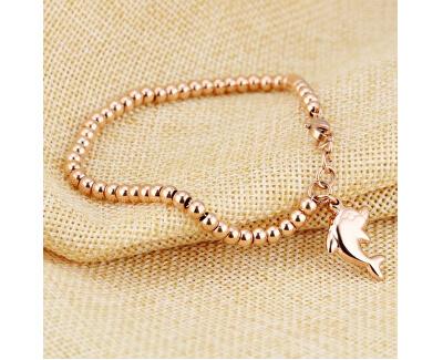 Brățară din oțel placat cu aur roz Delfin