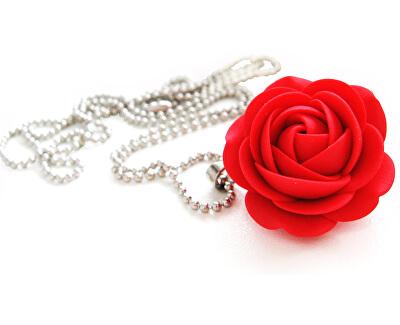 Colier floare roșie