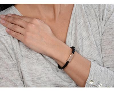 Brățară din piele cu închizătoare de bronz pentru femei Leather